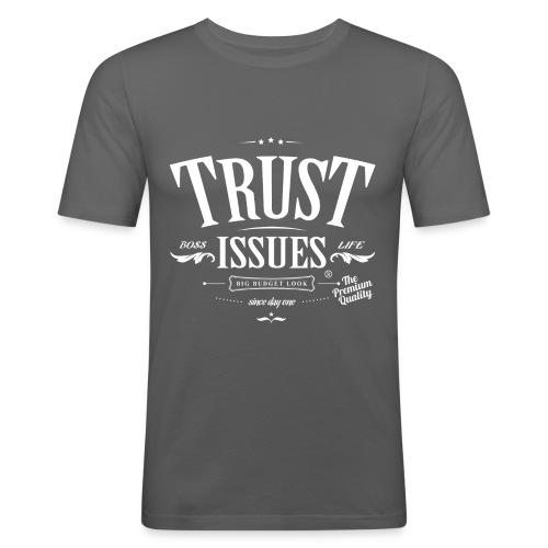 Trust Issues white - Männer Slim Fit T-Shirt