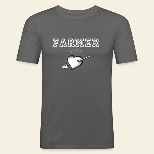 hearth farmer white - Maglietta aderente da uomo