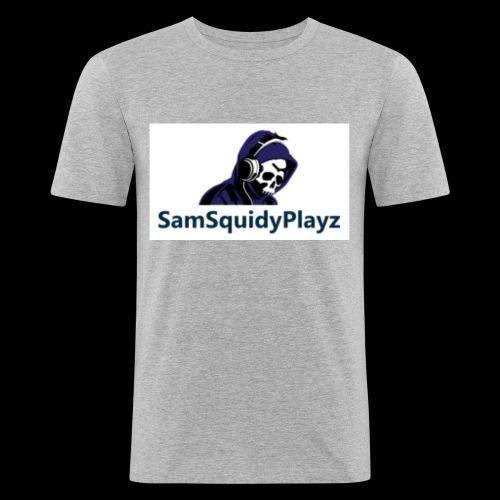 SamSquidyplayz skeleton - Men's Slim Fit T-Shirt