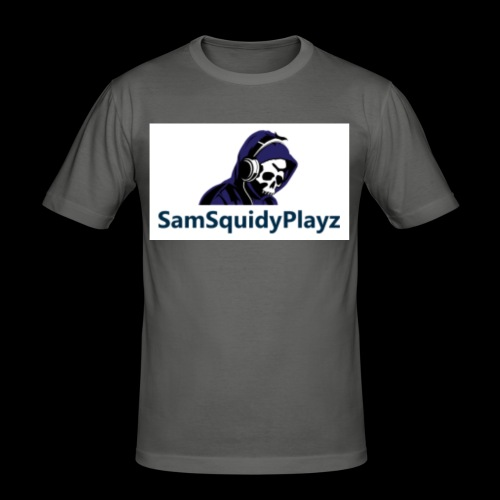 SamSquidyplayz skeleton - Men's Slim Fit T-Shirt