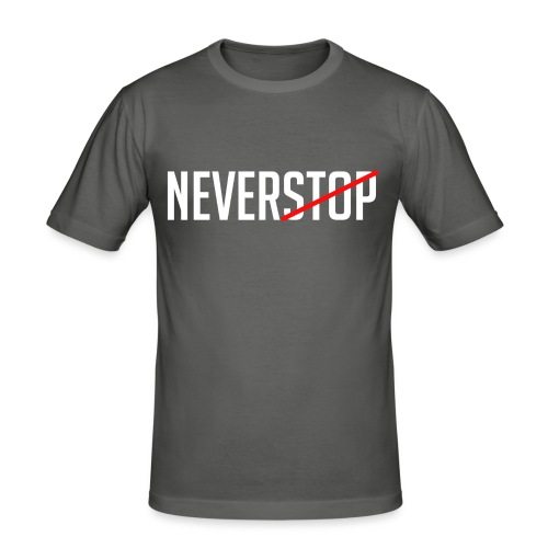 Neverstop - Mannen slim fit T-shirt