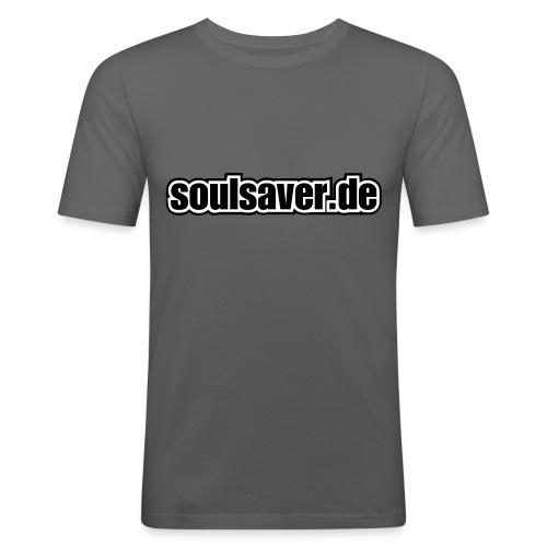 soulsaverlogo black - Männer Slim Fit T-Shirt