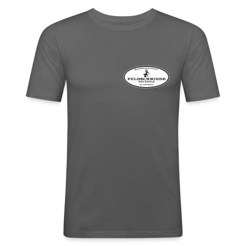 Feldschmiede Logo - Männer Slim Fit T-Shirt