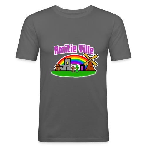 Amitie Ville Logo Shirt - Men's Slim Fit T-Shirt