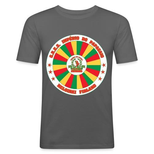 Papagaio drum logo - Miesten tyköistuva t-paita