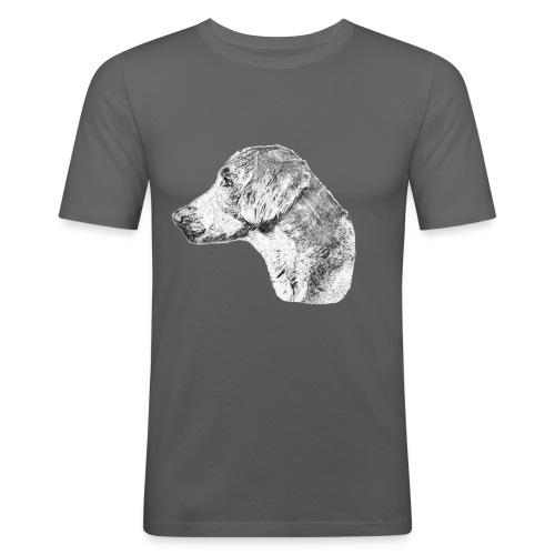 Langhaar Weimaraner - Männer Slim Fit T-Shirt
