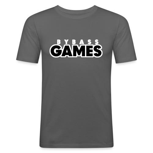 BBG zwart-wit - Mannen slim fit T-shirt