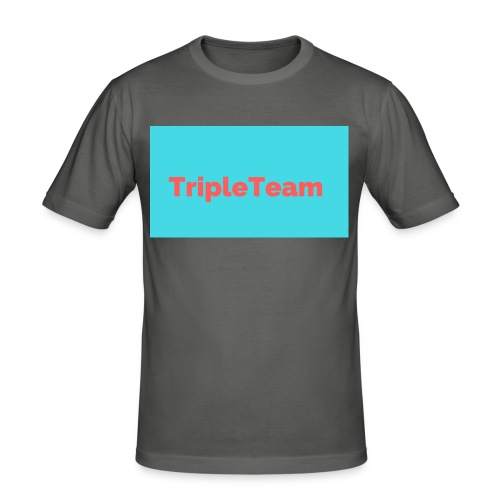 TripleTeam Logo - Mannen slim fit T-shirt