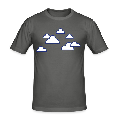 Wolken - Männer Slim Fit T-Shirt