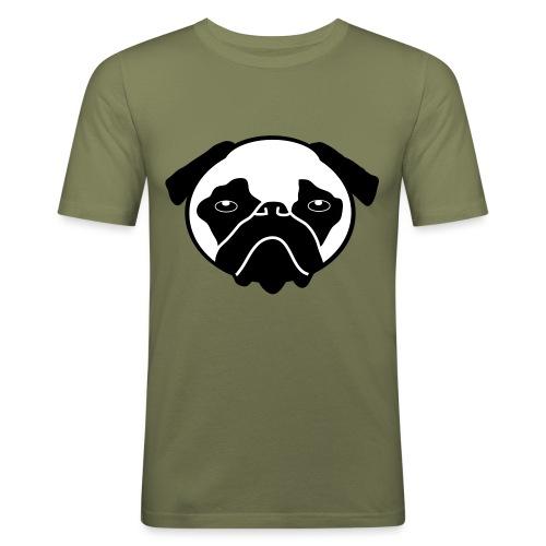 Mops, Hund - Männer Slim Fit T-Shirt