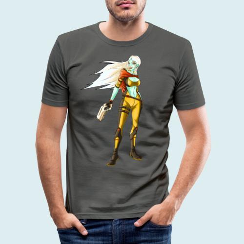 sci fi hunter - Maglietta aderente da uomo
