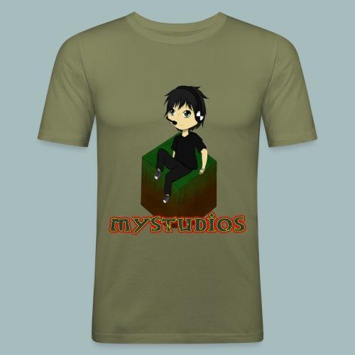 Mystudios Stylo - Männer Slim Fit T-Shirt