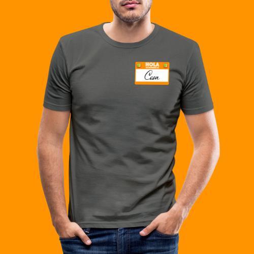 Hola, Mi nombre es Cosa - Camiseta ajustada hombre