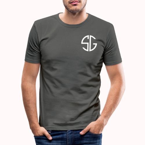 SemGamer log in wit - Mannen slim fit T-shirt