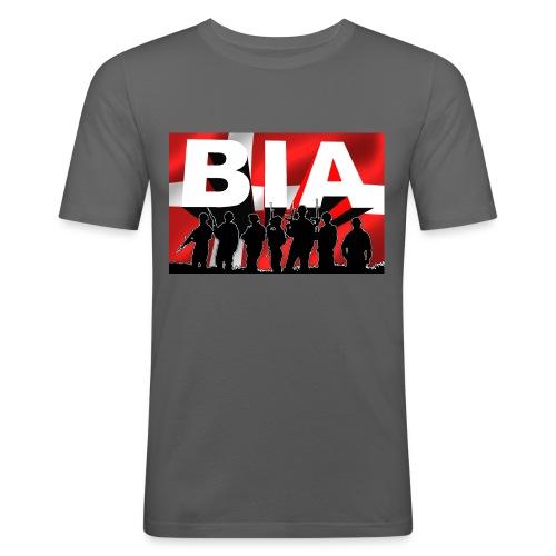 BIA+DKflag - Herre Slim Fit T-Shirt
