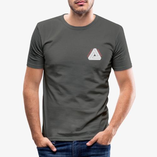 Modern Triangular Dexterity Logo - Men's Slim Fit T-Shirt
