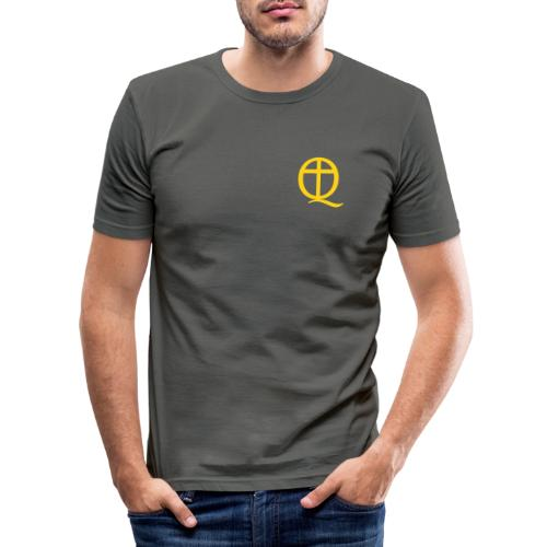 QC Gul - Slim Fit T-shirt herr