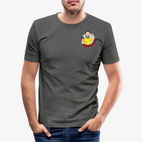 Proteinriegel Junkie - Männer Slim Fit T-Shirt
