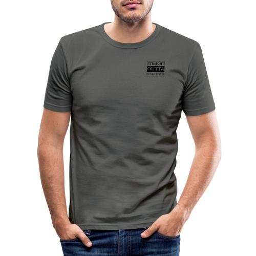 Straight Outta Quarantaine - Männer Slim Fit T-Shirt