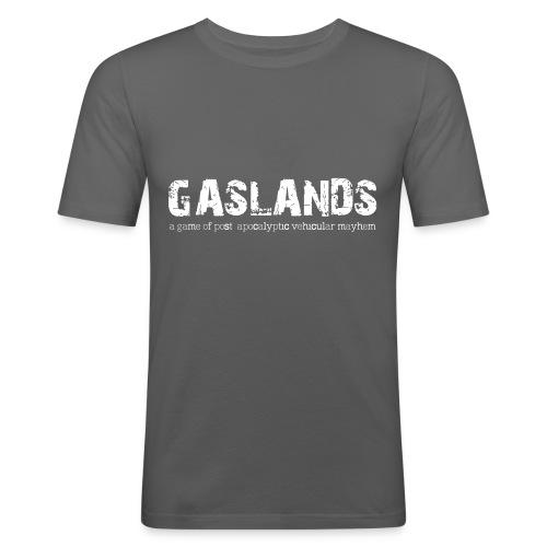 Gaslands-Tshirt-Final-Whi - Men's Slim Fit T-Shirt