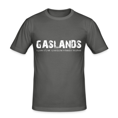 Gaslands-Tshirt-Final-Whi - Men's Slim Fit T-Shirt