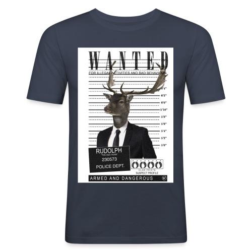 Rudolph wanted - Miesten tyköistuva t-paita