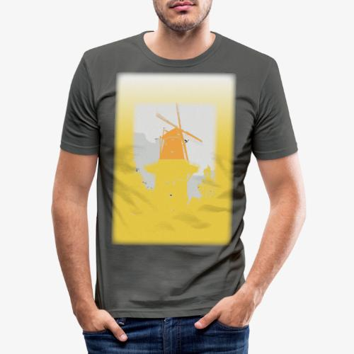 Mills yellow - Maglietta aderente da uomo