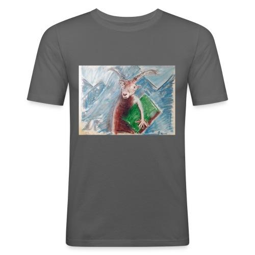 geit der wijsheid - Mannen slim fit T-shirt
