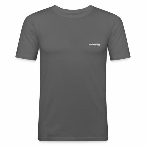 logo high resolution whit - Männer Slim Fit T-Shirt