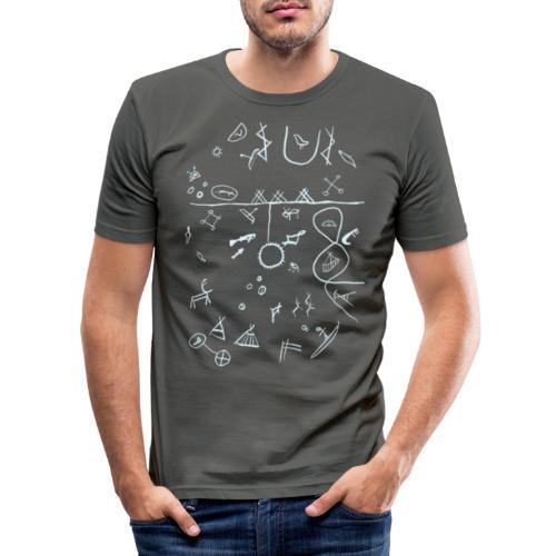 Runebomme - Slim Fit T-skjorte for menn