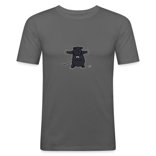 Henkie the Plush Rat - Men's Slim Fit T-Shirt