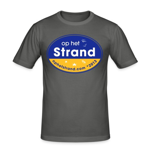 Op het Strand - Mannen slim fit T-shirt