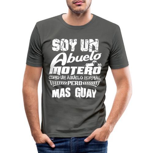 Soy un abuelo motero - Camiseta ajustada hombre