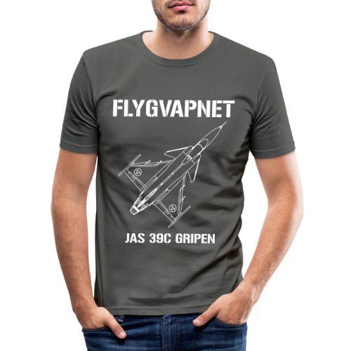 FLYGVAPNET - JAS 39C - Slim Fit T-shirt herr