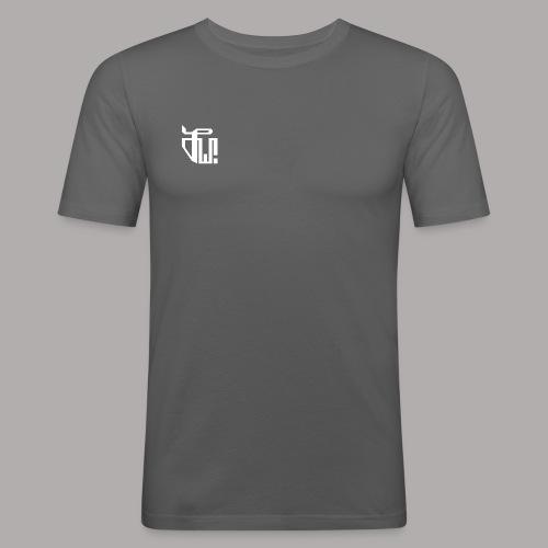 Zirkel, weiss (vorne) Zirkel, weiss (hinten) - Männer Slim Fit T-Shirt