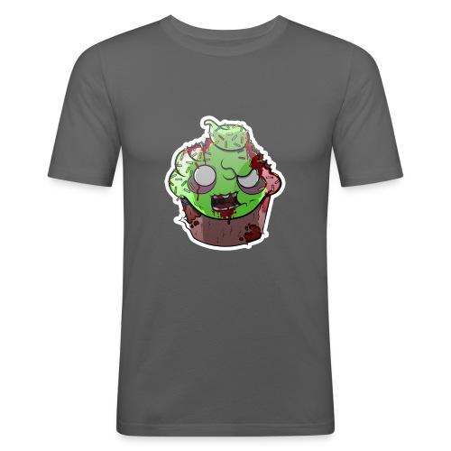Cupake zombie couleur - T-shirt près du corps Homme