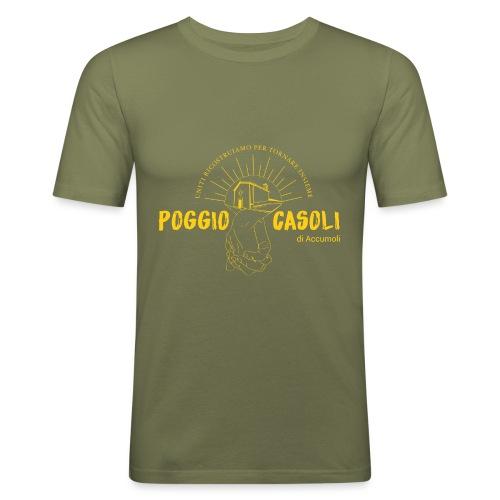 Poggio Casoli_Istituzionale_Giallo - Maglietta aderente da uomo