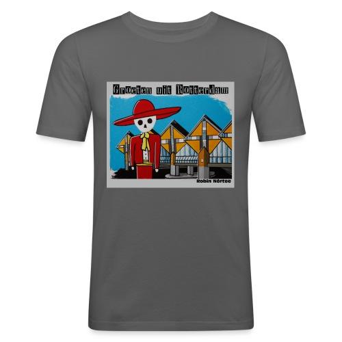 kubus - Mannen slim fit T-shirt