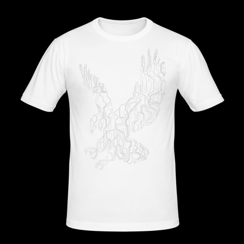 Circuit eagle White - Herre Slim Fit T-Shirt