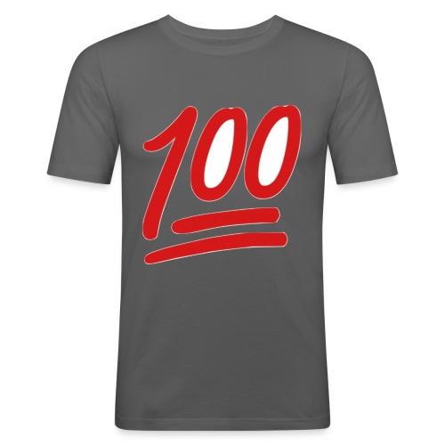 100 - Mannen slim fit T-shirt