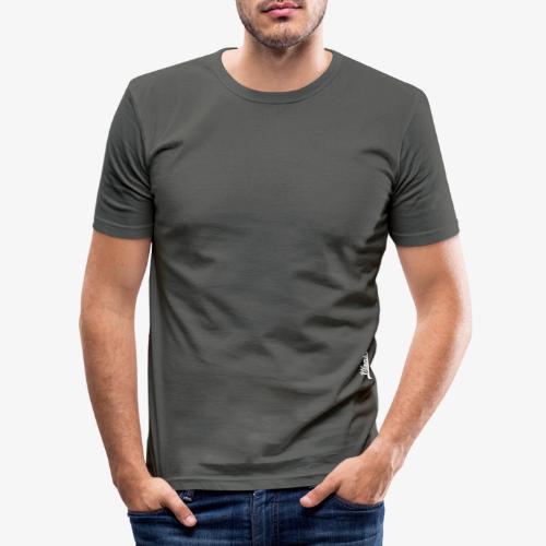 Logo wit Vloms - Mannen slim fit T-shirt