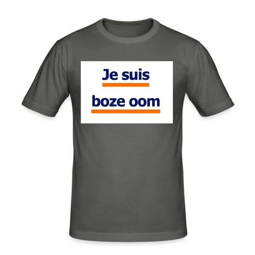boze oom - Mannen slim fit T-shirt