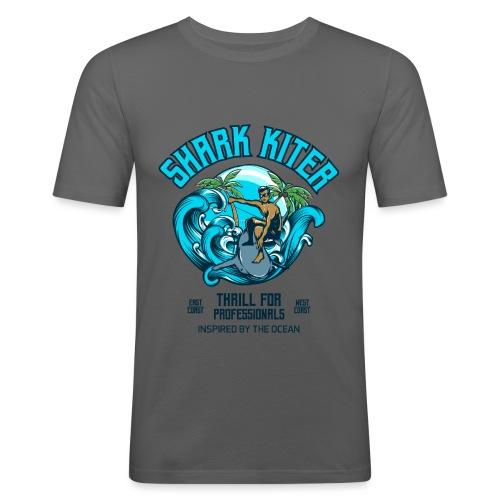 Shark Kitesurfer for professionals - Männer Slim Fit T-Shirt