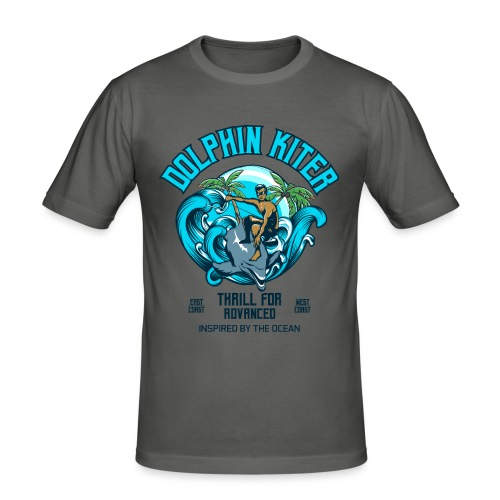 Dolphin Kitesurfer for advanced - Männer Slim Fit T-Shirt