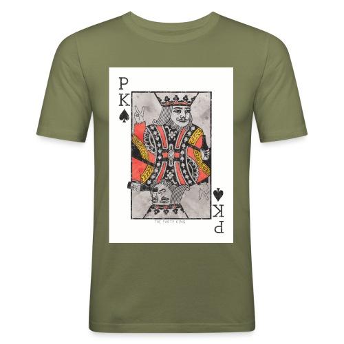 king parties and drinks - Miesten tyköistuva t-paita