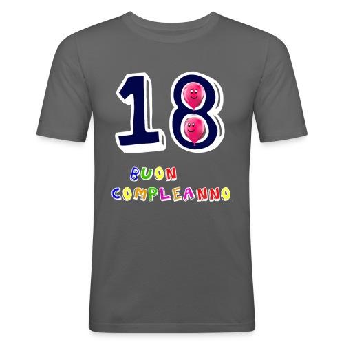 18 BUON compleanno - Maglietta aderente da uomo