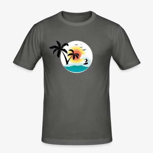 Surfing in paradise - Männer Slim Fit T-Shirt