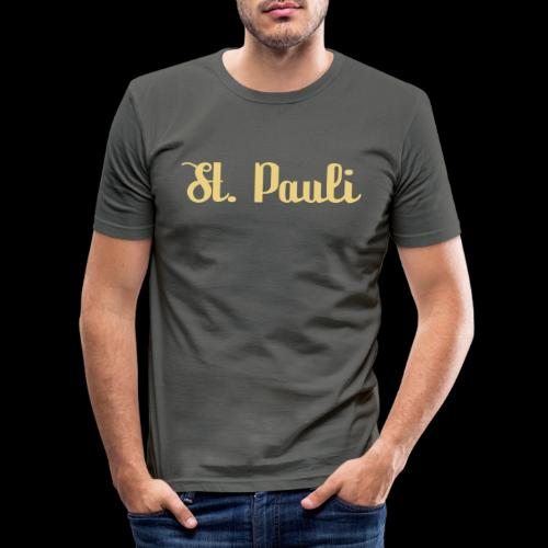 St. Pauli Logotype - Männer Slim Fit T-Shirt