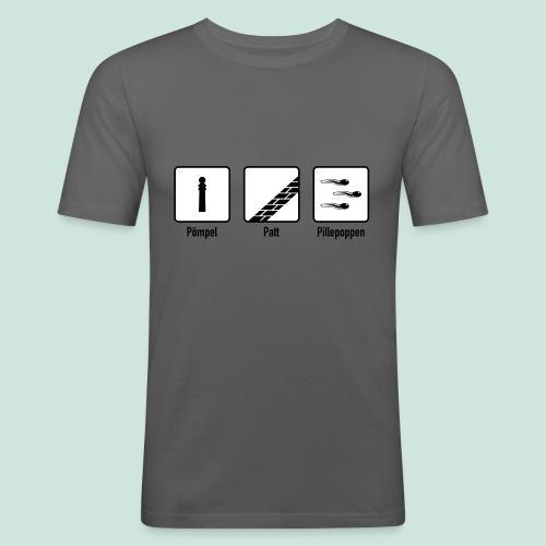 Pömpel Patt und Pillepoppen - Männer Slim Fit T-Shirt