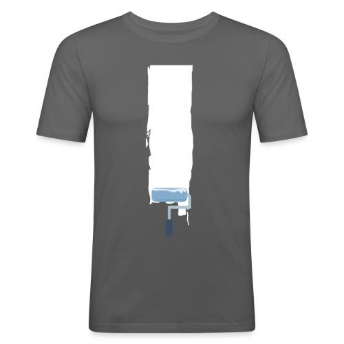Flat stroke design - Männer Slim Fit T-Shirt